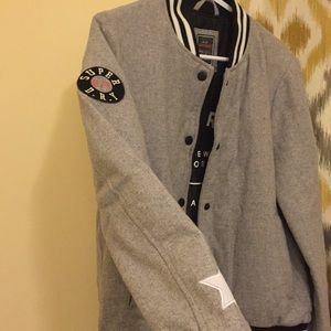 Superdry Jackets & Coats - Superdry Wool Varsity Bomber